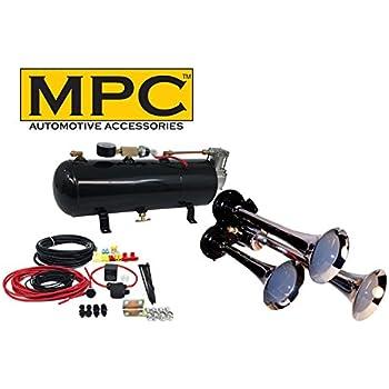amazon com mpc m1 (0933) 3 trumpet train air horn kit, 110 psi air Bazooka Wire Diagram mpc m1 (0933) 3 trumpet train air horn kit, 110 psi air