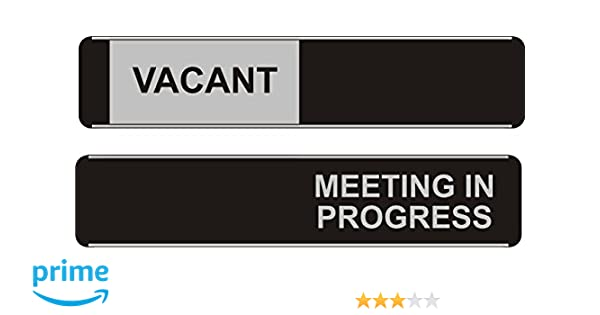 viro vacant in use sliding door sign green red edition 264