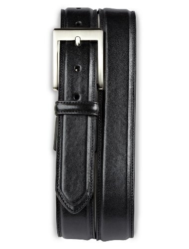 Harbor Bay Extender Leather Dress Belt (66/68, Black)