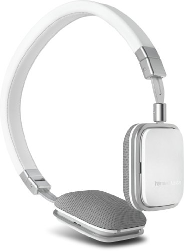 Harman Kardon SOHOi WHT Premium Lie-Flat On Ear Mini Headphones with iOS Remote (White)