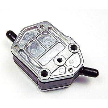 Aluminum Gas Fuel Pump Rectangular 6A0-24410-00 692-24410-00 for Yamaha 25HP-85HP Tohatsu Suzuki Outboard
