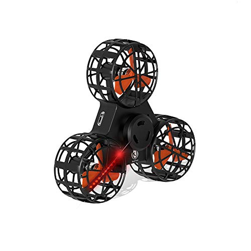 Airplane Motorized (TIFENNY Tiny Drone Fidget Spinner Stress Relief Gift Flying Gyroscope Toy Christmas (A, 11×12×2.8cm))