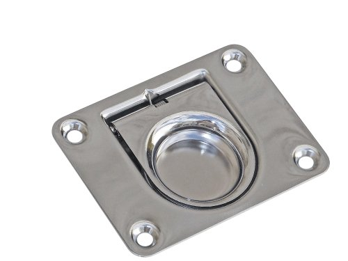 Five Oceans Stainless Steel Square Flush Pull Ring - BC 912