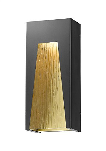 1-Light Outdoor Wall Light in Black Gold Finish (Gd 1 Light Outdoor Fixture)