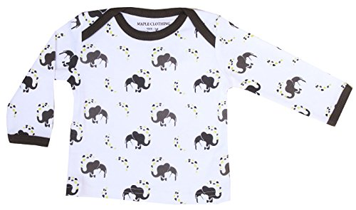 ic Cotton Baby Long Sleeve T-Shirt GOTS Certified (Elephant,18-24m) ()