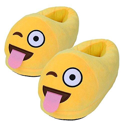 For Smiley Plush JLTPH Slippers Poop House Kids Color Adults 09 Funny Poop Bedroom Socks Comfy Emoji Soft Unisex 070n8