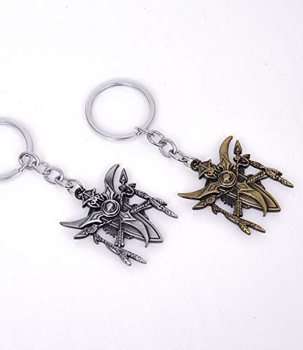 Pack of 2 Cute Game Pocket Keychain Decor World of Warcraft Keyring Pendant Charms for DIY Craft Making Supplies