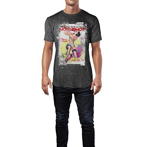 SINUS ART® Movie Humor Herren T-Shirts stilvolles dunkelgraues Cooles Fun Shirt mit tollen Aufdruck