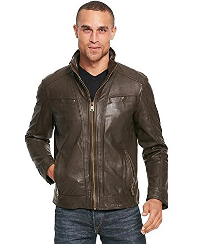 Wilsons Leather Mens Vintage Leather Jacket with Seam Detail S ()