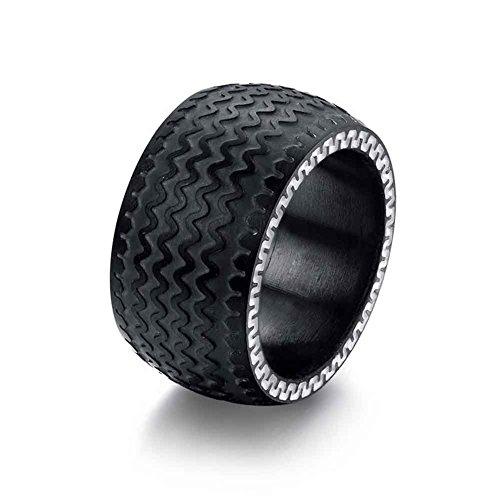 leioh-black-mens-heavy-stainless-steel-tire-ring-novelty-design