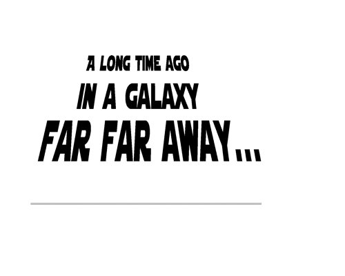 A Long Time Ago In A Galaxy Star Wars Decal Wall Quote Large Size Buy Online In Faroe Islands At Desertcart