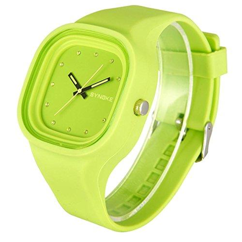 dracle Jelly Relojes, resistente al agua silicona deportes LED Digital Fecha reloj de pulsera pareja relojes/estudiantes reloj: Amazon.es: Electrónica