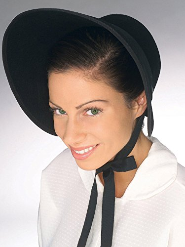 Forum Novelties Women's Colonial Felt Bonnet, black, Adult