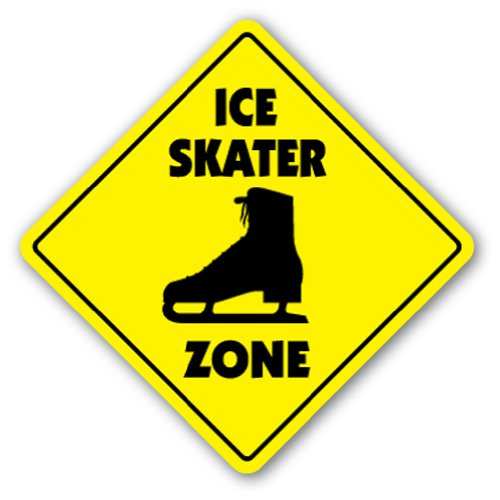 ICE SKATER ZONE Sign xing gift novelty rink boots figure skating skater