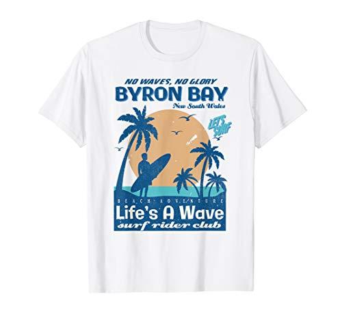 Byron Bay Surf - Byron Bay New South Wales Australia Surf Rider Club T-Shirt