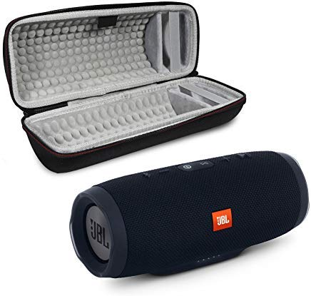JBL Charge 3 Portable Wireless Bluetooth Speaker Bundle with Protective Case - Black (Jbl Ipod Player)
