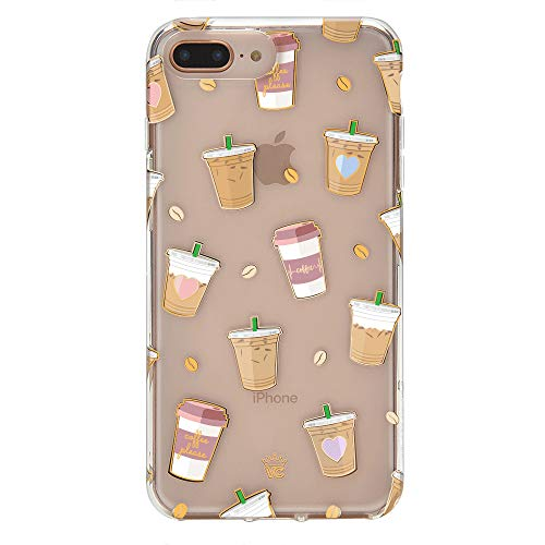 Velvet Caviar for Cute iPhone 8 Plus Case & iPhone 7 Plus Case Coffee Clear for Women & Girls - Protective Phone Cases [Drop Test Certified] (Coffee)