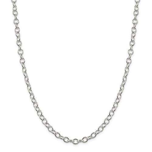 925 Sterling Silver 5.3mm Oval Link Cable Chain Necklace 30 Inch Pendant Charm Long Fine Jewelry Gifts For Women For Her