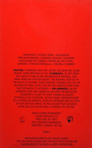 Ralph Lauren Polo Red Eau de Toilette Spray for Men, 4.2 Ounce