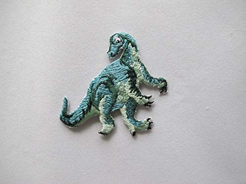 Spk Art Gorgosaurus Dinosaur Animal Embroidery Iron On Applique Patch, Sew on Patches Badge DIY Craft