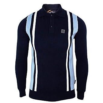 Trojan Records polo camiseta para hombre azul marino de punto ...