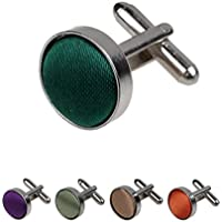Dan Smith Series Colours Microfiber Patterns Designer Cufflinks - 5PT