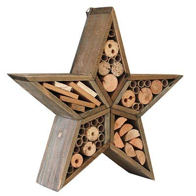 Panacea Woodlink Rustic Farmhouse Star Insect House
