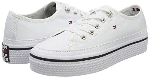 top Tommy Corporate Low White Hilfiger Flatform Women''s white 100 Sneaker nrrUxSwYq