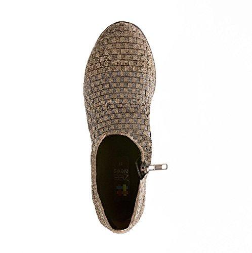 Zee Woven US Tern Alexis Shoes Women M Bronze Women's 41 EU Wedge Pewter 10 5 Elastic fFrxf1