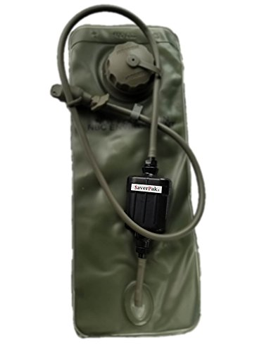 $averPak Single Includes 1 Seychele multipurpose Flat Inline and Straw with the SUPREME filter & Quick Disconnect Fittings for hydration packs/bladders