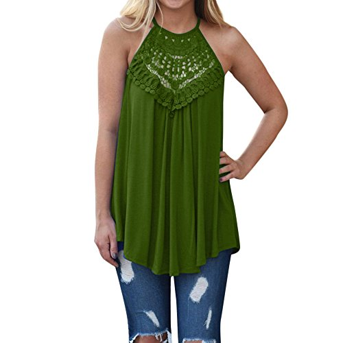 Women Women Casual Loose Off Shoulder Lace Irregular Blouse T Shirts Tank Tops