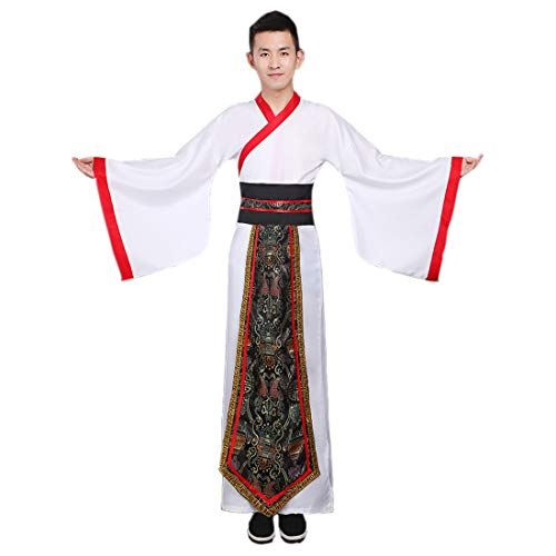 Sensei Halloween Costume (Ez-sofei Men's Ancient Chinese Han Dynasty Costumes Traditional Hanfu Robes (XL,)