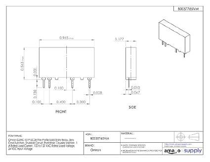 Omron G3MC-101P DC24 Thin-Profile Solid State Relay, Zero ... on