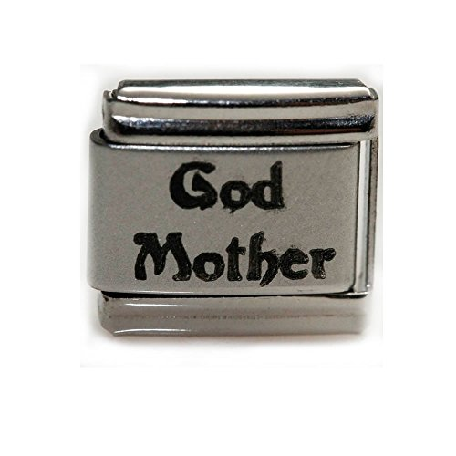 (SEXY SPARKLES God Mother Laser Italian Charm Bracelet Link)