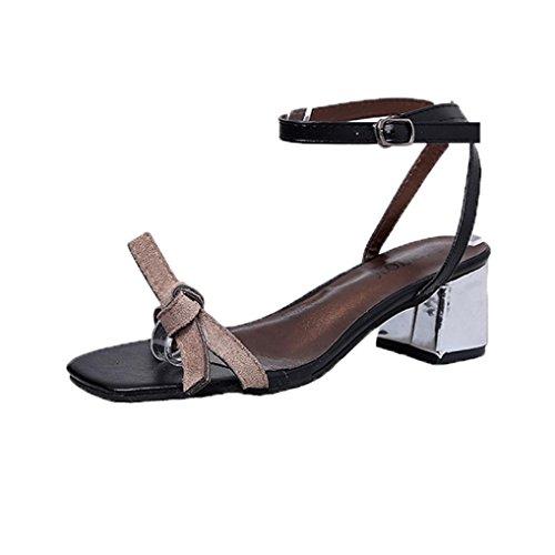 Toe Shoes Gladiator Shoes Heel Wedding Shoes Gray Sandals Summer Women hunpta Open Thick q1t8ta