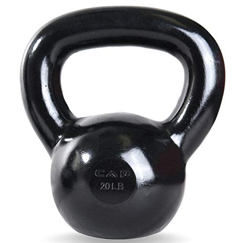 CAP Barbell Black Enamel Coated Cast Iron Kettlebell