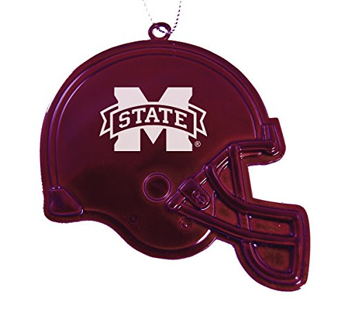 Ornament Mississippi Bulldogs State Holiday (Mississippi State University - Chirstmas Holiday Football Helmet Ornament - Burgundy)