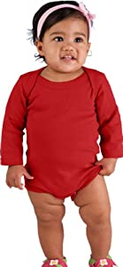 Infant Baby Rib Long Sleeve Lap Shoulder Creeper by Rabbit Skins