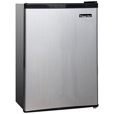 Magic Chef 2.4 cu ft Compact Single Door Refrigerator, Stainless Look by Magic Chef