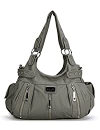 Scarleton 3 Front Zipper Washed Shoulder Bag H1292
