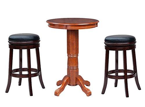 Boraam 81240 Florence Pub Table with Bar Stool, 36, Mahogany