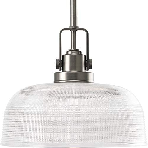 Progress Lighting Archie Collection P5026-81 One-Light Pendant, Antique Nickel