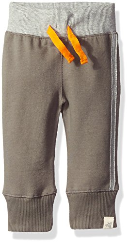 Burt's Bees Baby Baby Boys' Organic Cuff Pant, Charcoal French Terry, 3-6 Months