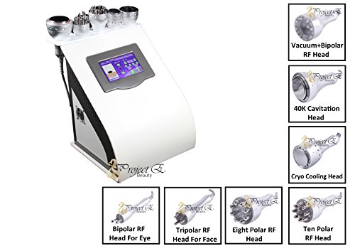 Project E Beauty 7 in 1 Professional Eliminates Wrinkles, Scar Remover, Acne, Dark Circles, Blemish Remover, Cellulite Body Shaping Weight Loss Machine