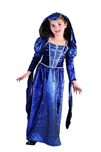 Rimi Hanger Kids Lady Camelot Renaissance Princess Costume Girls Book Week Fancy Outfit Small 4-6 Years