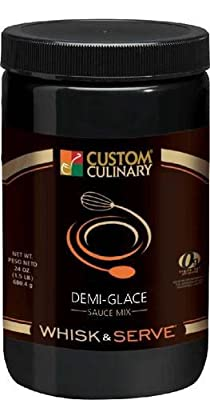 Custom Culinary Whisk and Serve Demi Glace Sauce Mix, 38 Ounce - 4 per case.