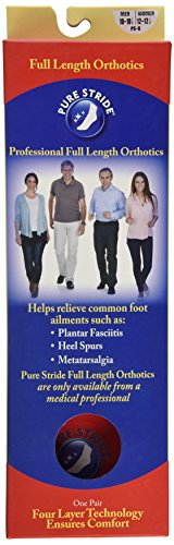 PURE STRIDE Full Length Orthotics MEN 10-10.5 / WOMEN 12-12.5 Professional Arch Supports
