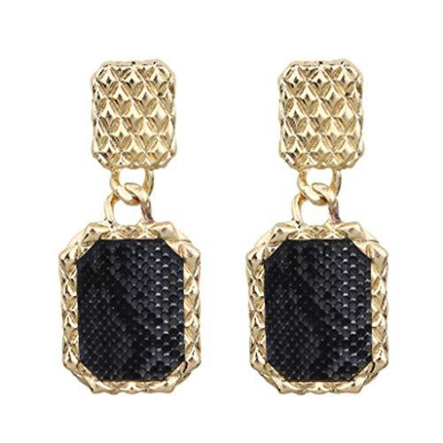 Wenini Serpentine Earrings, Vintage Earrings for Women Punk Snake Serpentine Leather Pendant Earring Ladies Earrings ()