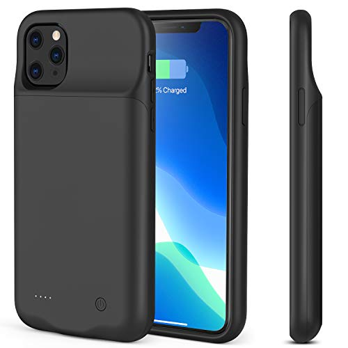i.VALUX Battery Case for iPhone 11 4500mAh, Ultra Slim Light Portable Charger Case Extended Rechargeable Battery Pack Power Bank Charging Case Cover for Apple iPhone 11 Support Audio 6.1 Inch (Black)