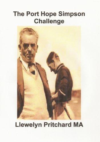 Descargar Libro The Port Hope Simpson Challenge Llewelyn Pritchard Ma